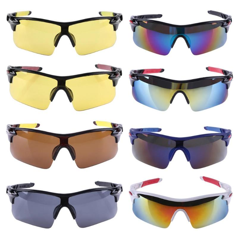 Cycling Glasses Anti-UV Outdoor Sport Bike Bicycle Cycling Sunglasses for Men Women Half Frame PC Lens Safety Goggles Eyewear цена 2017