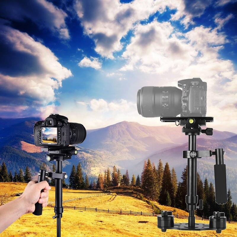 Stabilisateur Portable S40 stabilisateur vidéo stabilisateur avec plaque de fixation rapide pour Canon Nikon Sony caméra GoPro QF66