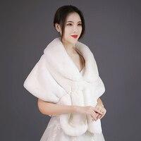 women Faux raccoon grass shawl long shawl thick faux fur scarf imitated fox fur cape winter women warm fur pashmina