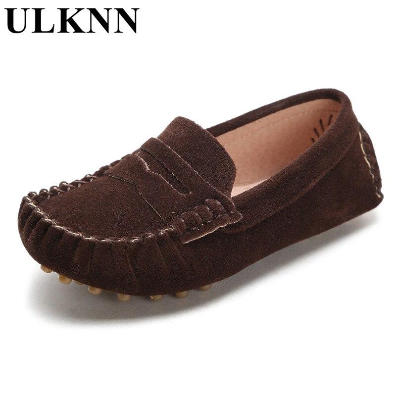 ULKNN konfet rəngli uşaqlar yumşaq dəri loafers uşaq moda - Uşaq ayaqqabıları - Fotoqrafiya 5