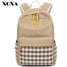 XQXA Casual Women Backpack Canvas Bag Backpack Printing School Bags for Teenagers Girls 14 Laptop Bag