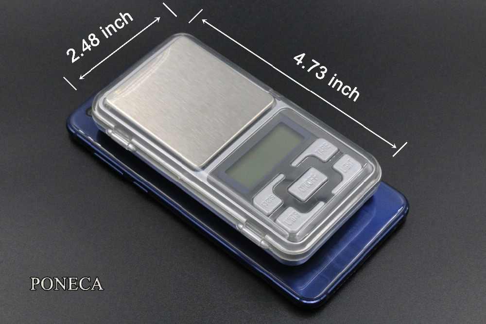 Bon Mini balance numérique de poche pour or argent échelle bijoux 0.01g poids balances électroniques balance de poche 0.01g/200g-500g/0.1g
