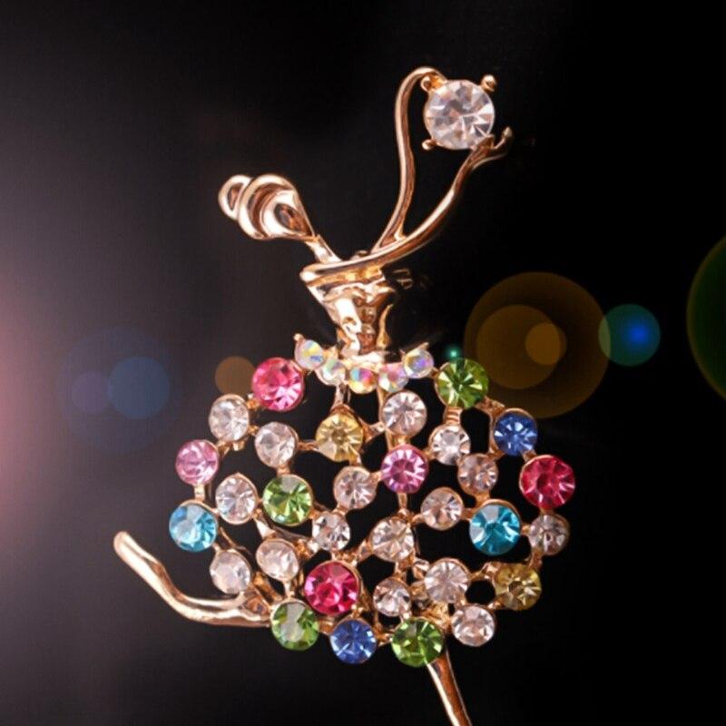 1 шт. прямая шт. Продажа с фабрики балетные костюмы танцы девушка сверкающих кристаллов стекло Броши для женщин в разных дизайнах Балетные