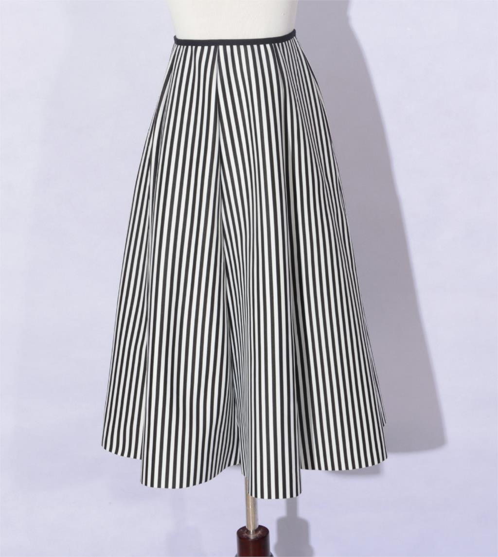 009259d556 Autumn black and white vertical striped tutu skirts autumn long ...