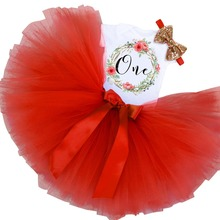1 Year Baby Girls Mini Tutu Dresses 1st Birthday Party Lovely Wear Girls Baptism Clothing 3Pcs Infantil Cute Outfits