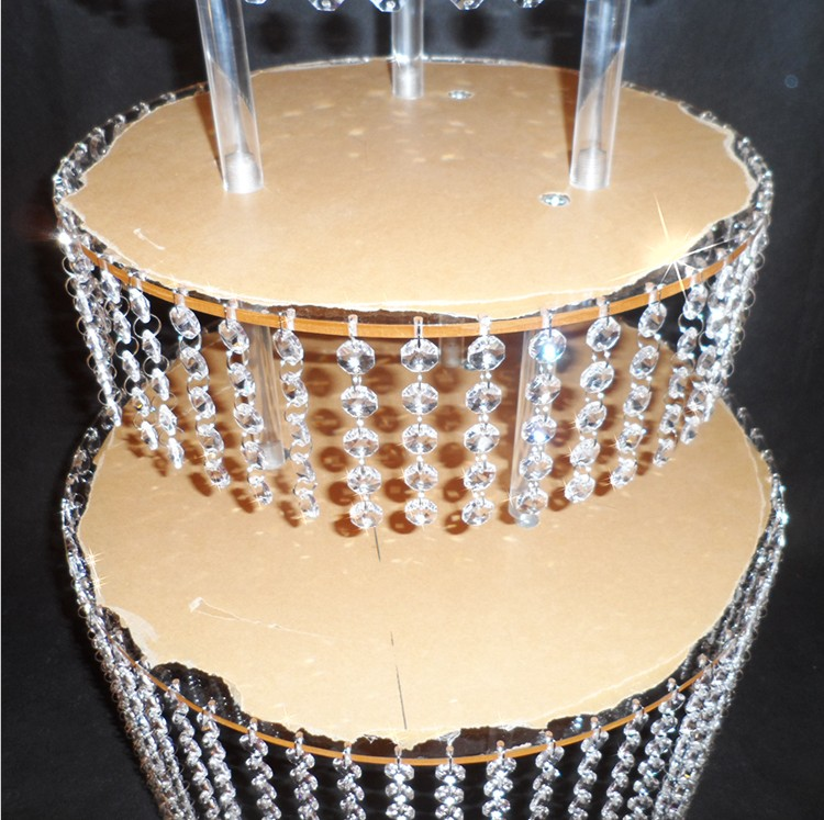 3 layer Crystal Acrylic Wedding Cake Tray Stand Wedding Centerpiece ...