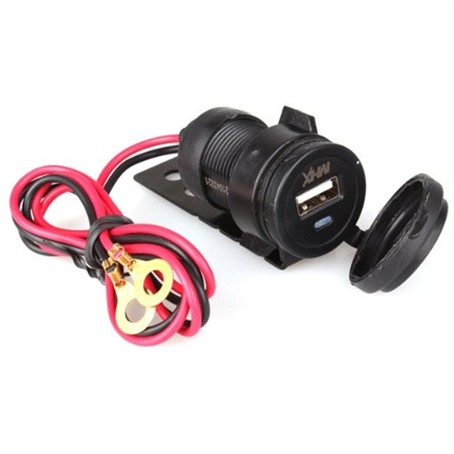 Moto cargador USB 12 V cigarrillo electrónico encendedor negro impermeable  Auto coche encendedor enchufe para motocicleta cb6ef6265194