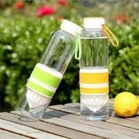 2016 Cute Mini Portable Orange Lemon Juicer Cup Fresh Juice Glass Bottle Infuser Outdoor Sports Water