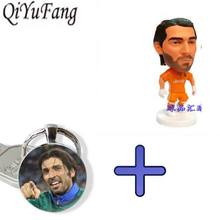 QiYuFang Gianluigi Buffon Model Toy Wit Combe Keychain Italy football Jewelry Fans Mens Women Child Gift Brother Keychains(China)