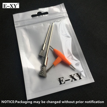 E-XY DTY Tool 3 in 1 T-type Screwdriver + Short Steel Brush + Long Steel Brush RTA RDA RDTA Atomizer Tanks Heating Wire Coils