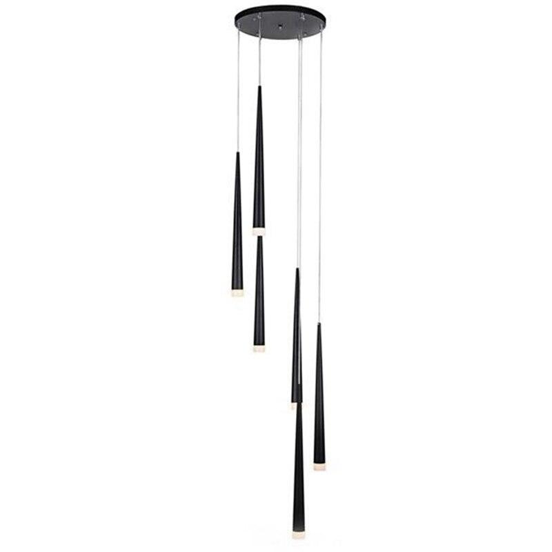 LukLoy Moderne Meteor Lustre Nordique Baisse À Long Cylindre De Fer Pendentif Tube Lumière Lampe pour Salon Loft Escalier Décor