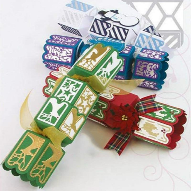 DiyArts Weihnachten Box Metall Stirbt Schneiden für Scrapbooking Neuheiten Handwerk Stirbt Behandeln Box Sterben Schnitte für Karte Herstellung Von Süßigkeiten box