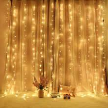 3 M X 3 M 300 LED Curtain Lights Christmas Decorations for Home String Light LED Garland New Year Party Decor Navidad 2019 Natal недорого