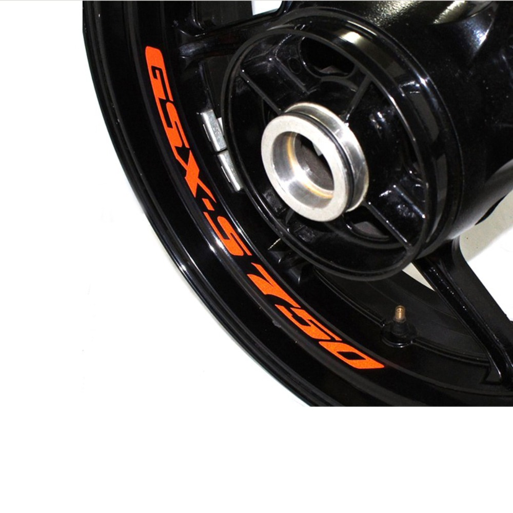 8X High Quality Motorcycle Wheel Sticker Decal Reflective Rim Bike Motorcycle Suitable For SUZUKI GSX-S750 GSXS750 GSX S750