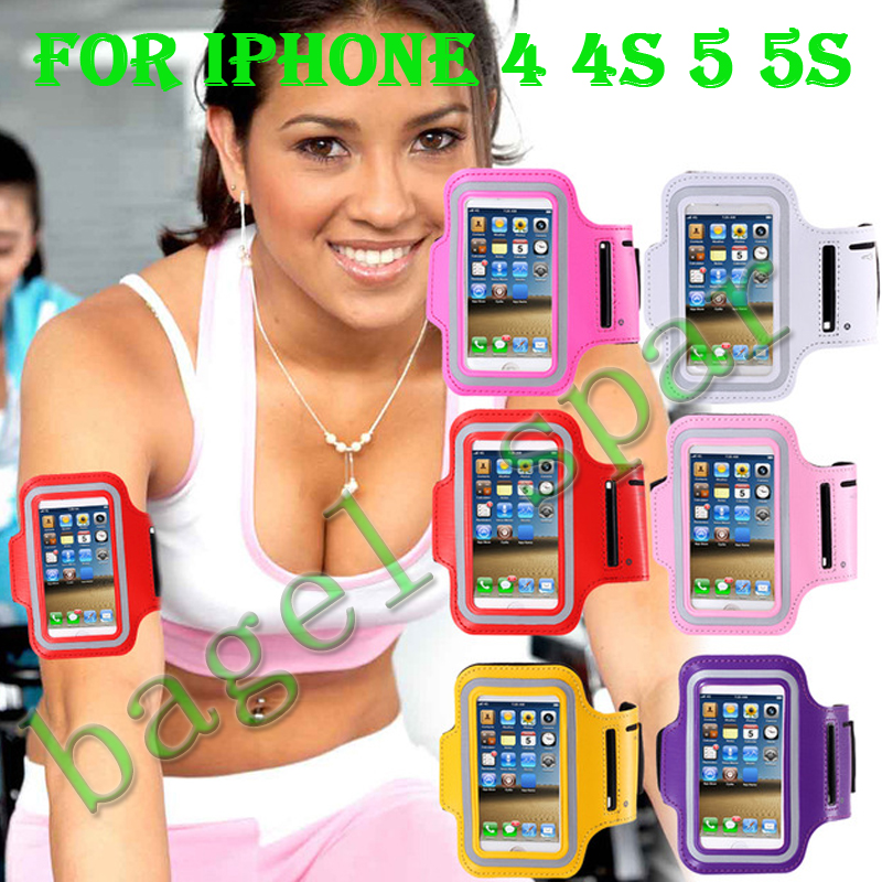 Sport Accessories Arm Band Case Outdoor Sport Arm Band brassard Case for Phone 4   Edge PU Leather  for iphone 4  4s 5 5s 5c 5g
