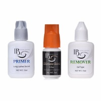 Slow Drying False Eyelash Extension Glue Kit Primer Ultimate Bond Glue Remover Long Lasting Glue Set