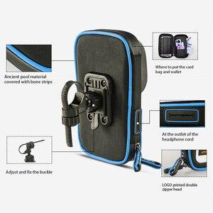 Image 4 - 6 cal uchwyt na telefon komórkowy wodoodporna rower stojak kierownica motocykla do montażu na torba dla iphone Samsung HUAWEI xiaomi