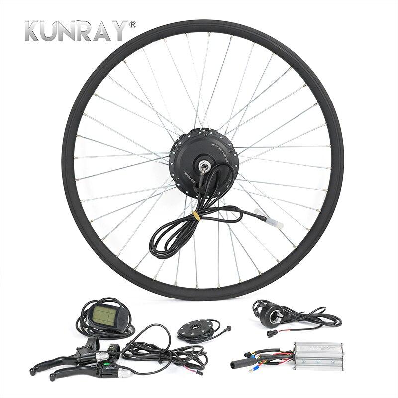 Электрический велосипед Conversion Kit G27F 36 В 350 Вт ступицы двигателя для 16 20 24 26 28 Bicicleta E велосипед переднее колесо двигатели с ЖК-дисплей 5