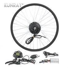 Электрическое преобразование велосипедов Комплект G27F 36 V 350 W мотор эпицентра для 16 «20» 24 «26» 28 «Bicicleta E велосипед спереди колесные двигатели с ЖК-дисплей 5
