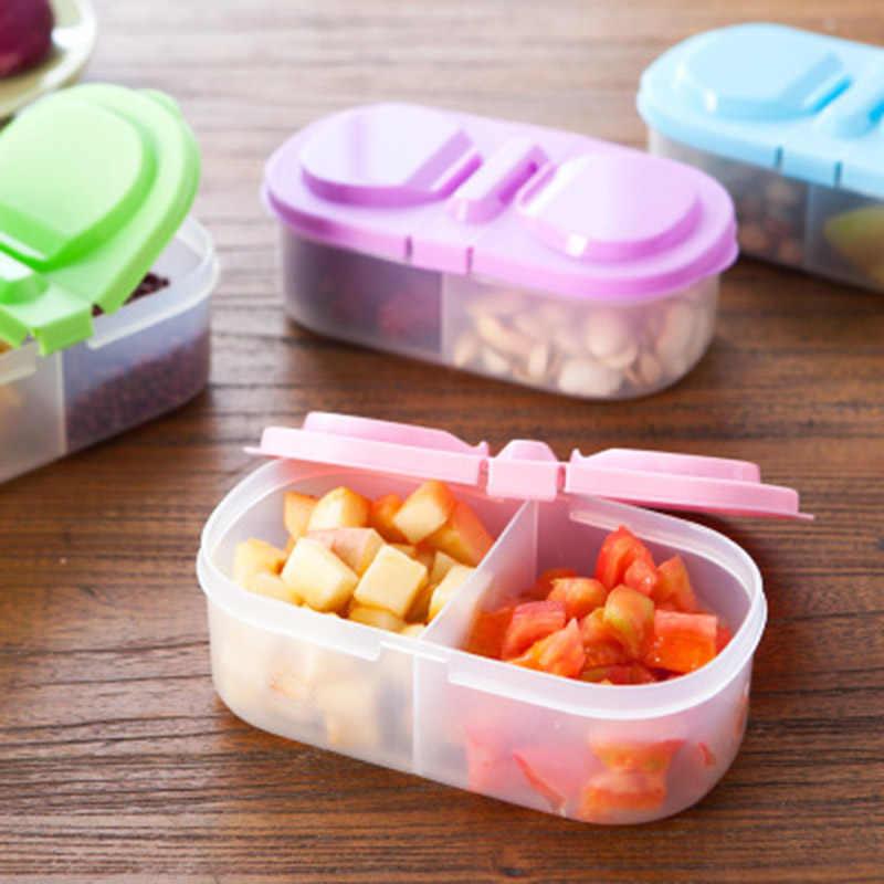 Portátil de Plástico Caso Protetor Conjuntos de Louça Viagem Almoço Ao Ar Livre Frutas Alimentos Recipiente De Armazenamento Titular Caixa de Comida Ao Ar Livre D