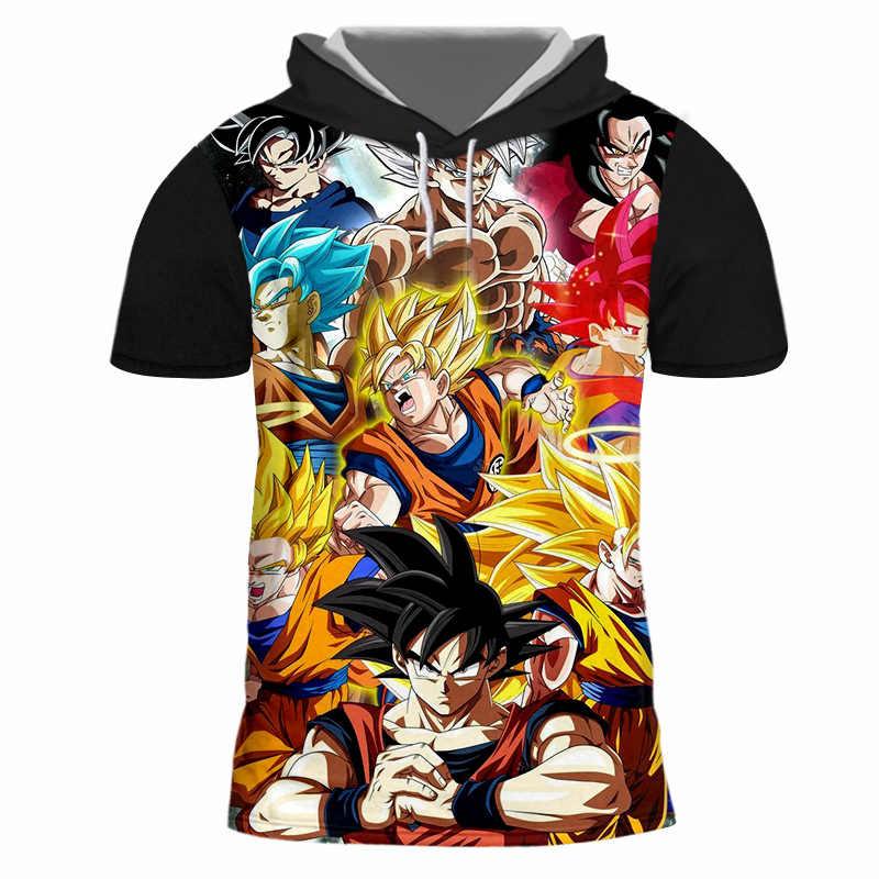 OGKB 2018 New Arrival Áo của Người Đàn Ông Vui In Con Trai Goku 3d Áo Thun Trùm Đầu Nam Thể Hình Tập Thể Dục Thường Outwear Hoodies 7XL