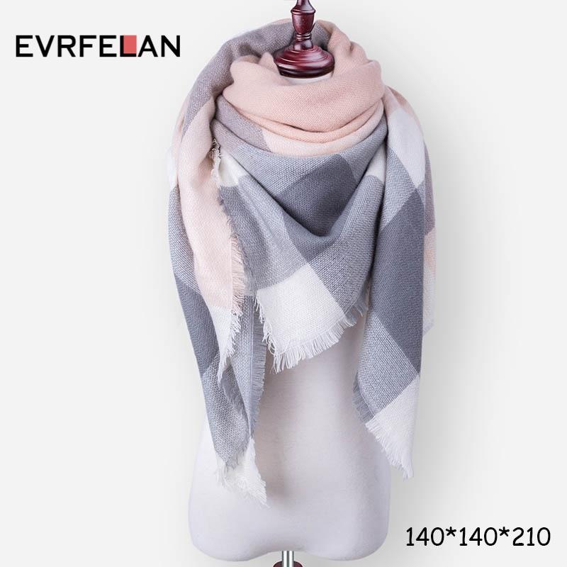 Evrfelan New Winter Scarf Fash...