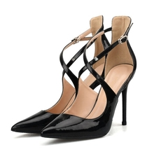 Patent Leather Thin Heels Office Shoes New Arrival Women Pumps Fashion High Heels Shoes Women's Pointed Toe Sexy Shoes H0053 luxury 2019 shallow patent leather thin heels office ol ladies shoes new arrival pumps fashion high heels shoes women sexy shoes