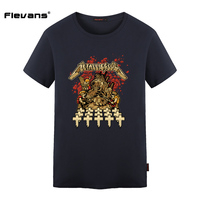 Flevans Hard Metal Rock Band METALLICA T Shirts PUNK Style Men 100 Cotton Short Sleeve T