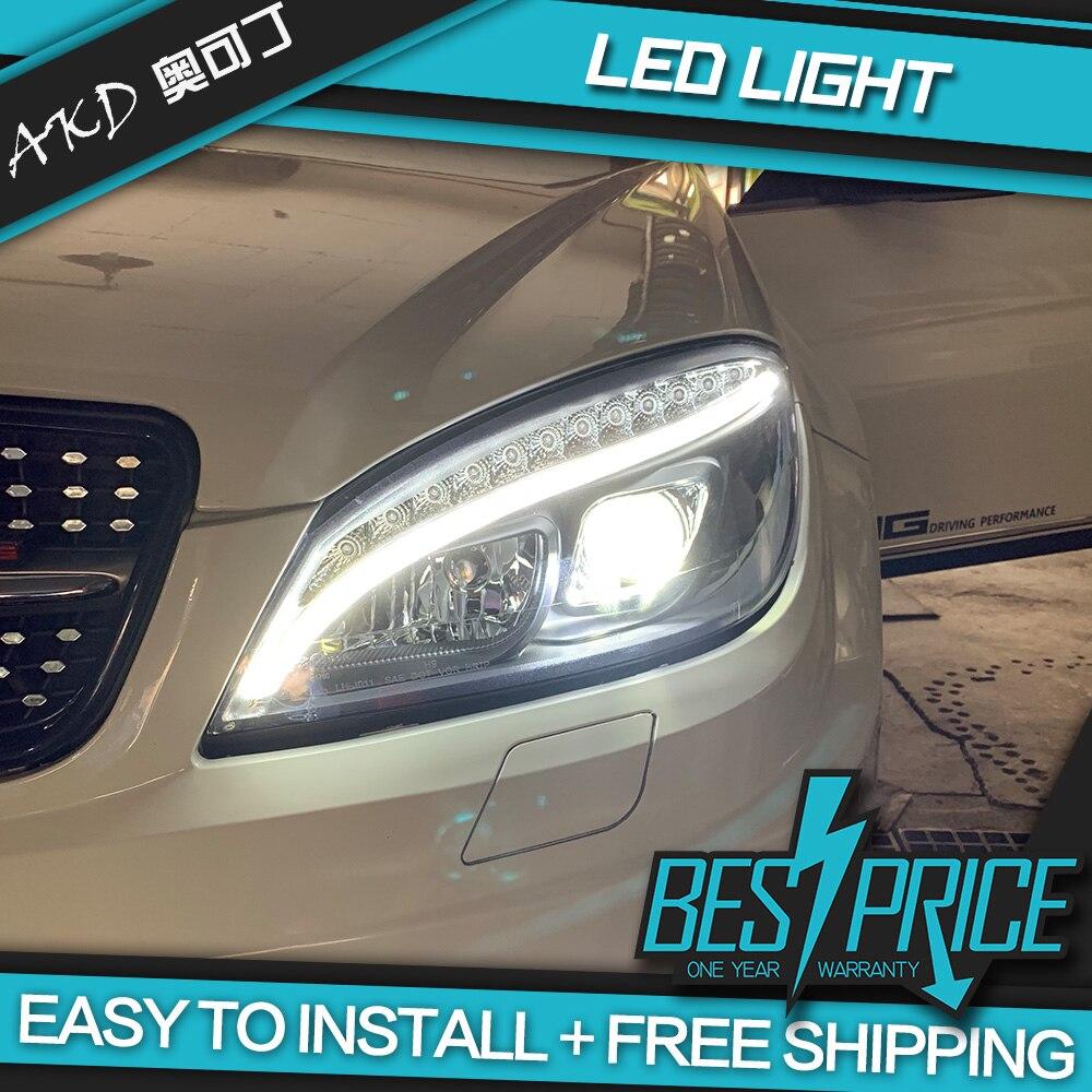 АКД настройки автомобильные фары для W204 фары 2007 2010 C300 C260 обновления W205 светодиодные дневные ходовые огни на передних фарах Hid би ксенон авто