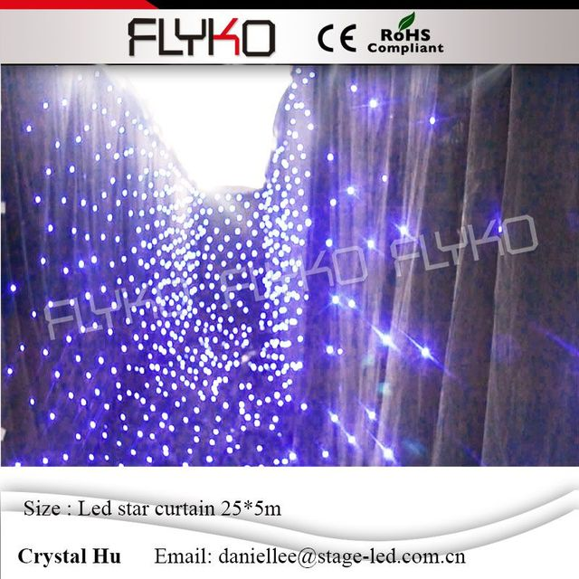 programmable 5m 25m led star curtain 30 sets of programs shiny led