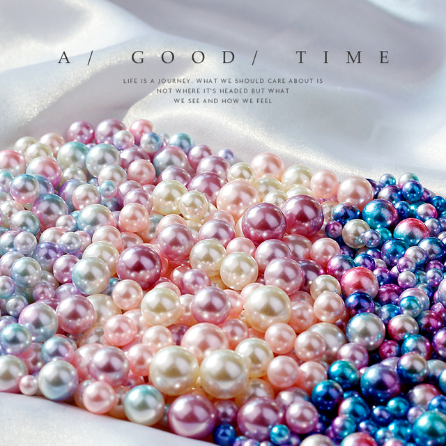 Vintage Ornament Simulated Pearl Gradient Color Mermaids Eyes Bead Photo Photography Backdrop Decoration Items for Jewelry Ring