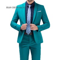Men's Dark green Suits Single Breasted Wedding Suits One button High quality Suits Fashion Party Prom Groomsmen Groom Tuxedos