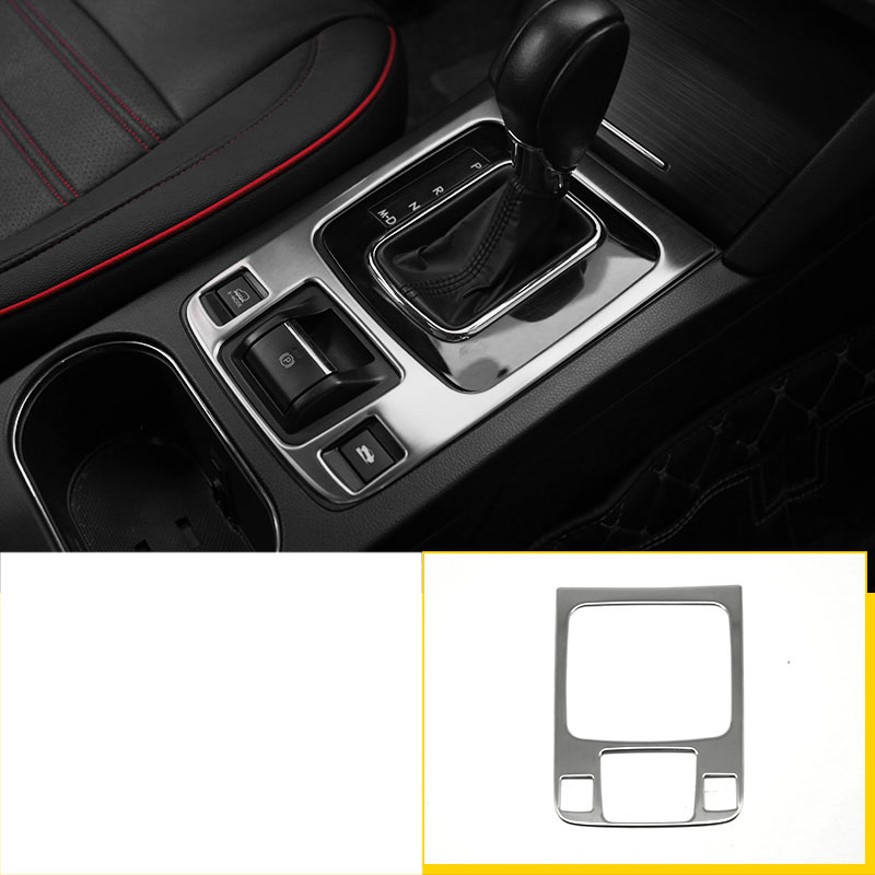 lsrtw2017 stainless steel car Electronic handbrake panel frame trims for subaru outback 2015 2016 2017 2018 2019 legacy b4 in Interior Mouldings from Automobiles Motorcycles