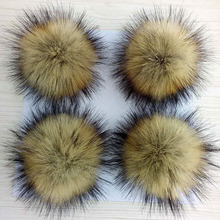 10-15cm False Hairball Hat Ball Pom Handmade DIY Artificial Wool Wholesale Cap Accessories PomPom With Buckle