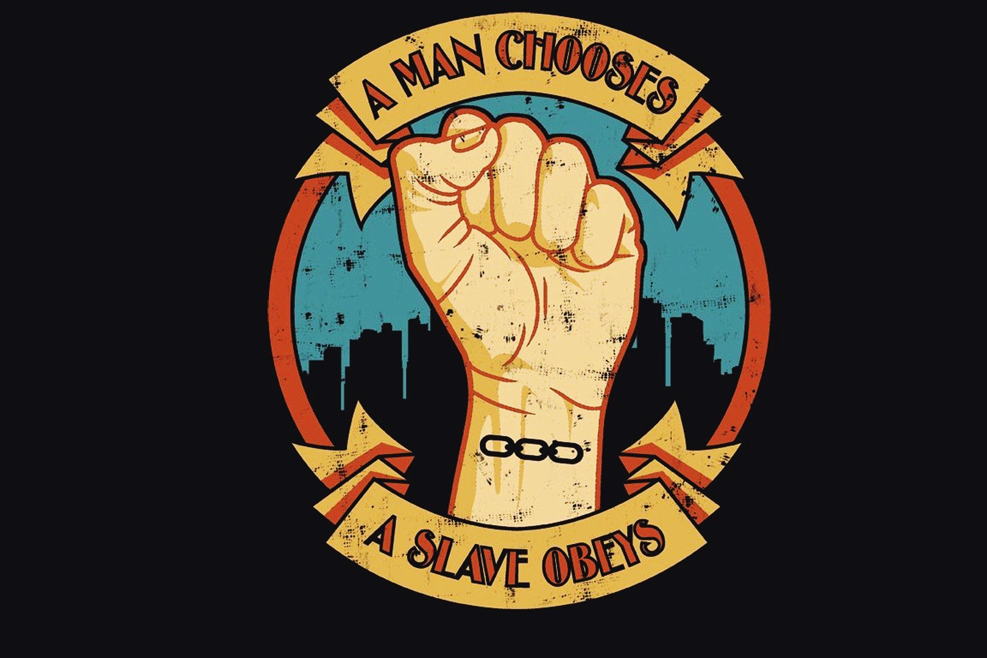 A Man Chooses a Slave Obeys BioShock