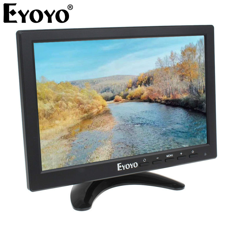 EYOYO 10 IPS HD 1280*800 LCD VGA HDMl BNC USB PC DVD Home Gaming CCTV Video Audio Monitor original genuine ips lcd b070ew01 v 0 v 1 hd 1280 800