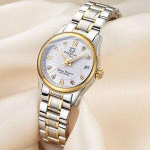 Image 4 - カーニバル女性の腕時計トップの高級ブランド自動機械式時計サファイア防水レロジオfemininoリロイmujer