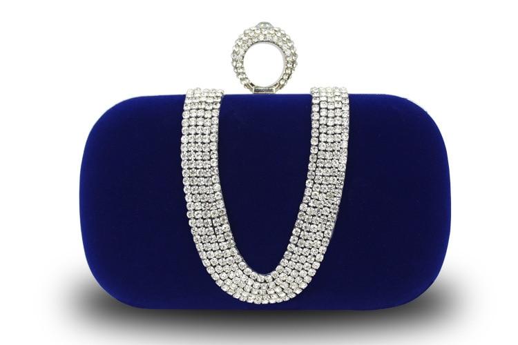 Ladies Clutch Purse Gold Chain Evening Bag Luxury Bling Rhinestone Bridal Wedding Dinner Shoulder Bag Purple Bags SMYCYX-E0066 bling koi fish purse luxury rhinestone