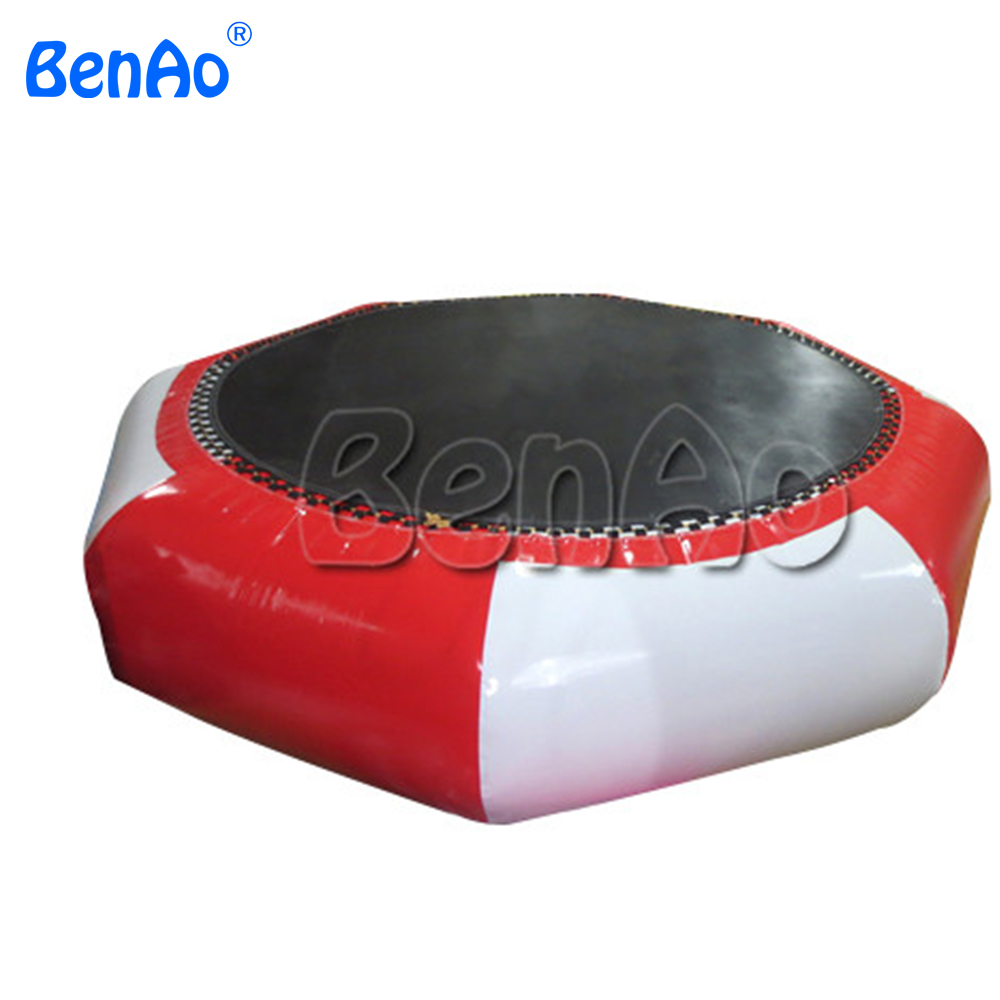 W138 BenAo DHL Free Shipping 4m Air bouncer inflatable trampoline cheap water trampoline/Popular inflatable water jumping bed 4m 0 65m inflatable water jumping trampoline free air pump inflatable bounce bed for sale