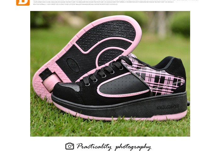 New Fasion Children Shoes With Wheels Girls Boys Roller Skate Shoes For Kids Sneakers With Wheels Wheelies Shoes Eu Size 29-40 DTW001 (16)