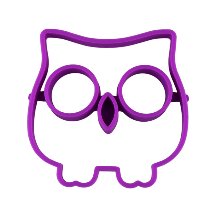 Cute Silicone Owl Egg Fried Shaped Mold Shaper Ring Kitchen Cooking Tool Kitchen Supplies Cooking Accessories