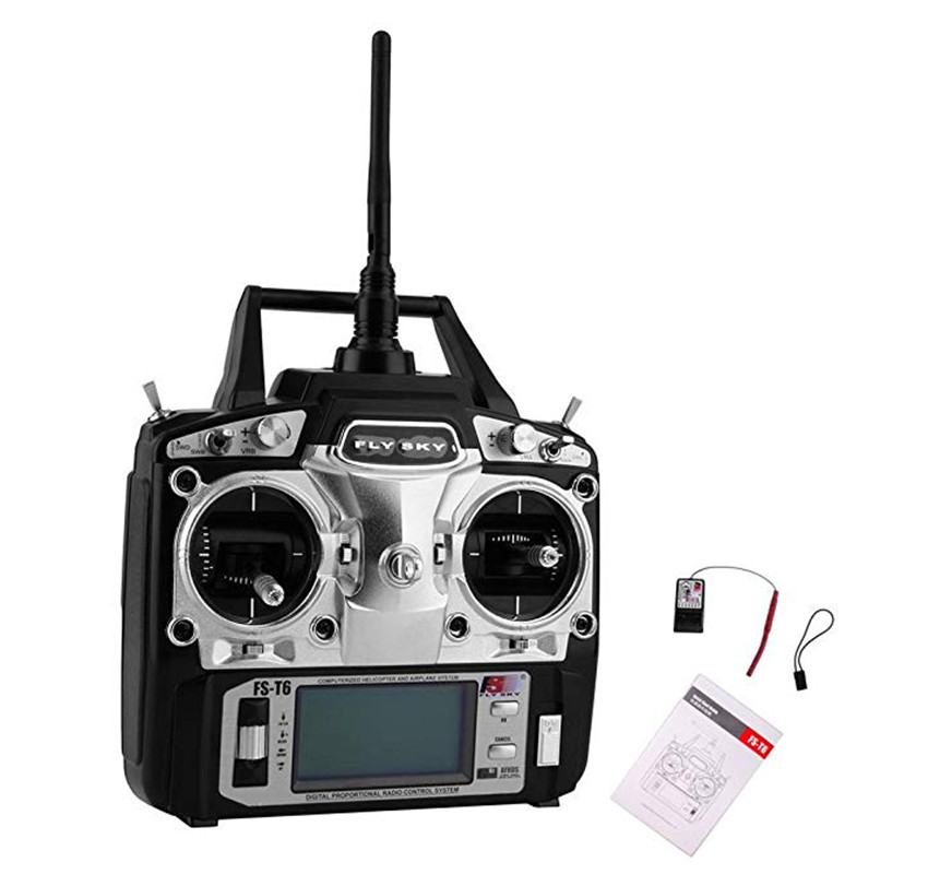 Flysky FS-T6 High Precision 2.4G 6 Channel 6ch Radio Controller Transmitter And Receiver Kit For RC Helicopter Racing Drone
