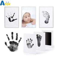 Отпечаток отпечатка Комплект Детская штемпельная подушка хранения Memento чернил новорожденных Фото наборы винтов Детские сувенир ящик Inkless