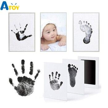 Footprint Imprint Kit Baby Ink Pad Storage Memento Ink Newborn Photo Frame Kits Baby Souvenir Drawer Inkless Handprint Casting