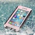 360 grados de protección havy dty para iphone 6 6 s plus de protección de cuerpo completo golpe caja del brazal del deporte a prueba de agua