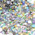 Laser Silver Round Dot Shape Mixed 1-3mm Thin Sparkly Paillette Designs for Gel Polish DIY Decorations Nail Art Tips Glitter P36