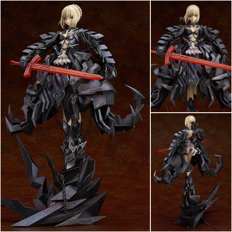 Japan Anime GSC Fate Stay Night Saber Alter Huke 33cm Saber Huke PVC Action Figure Anime Doll Model Toys Gift anime figurine alter fate stay night archer blade works pvc action figure model toy 25cm