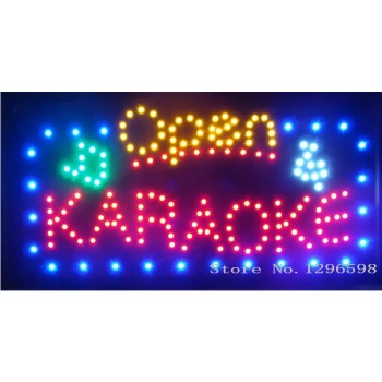 CHENXI Led Karaoke Shop Open Signs 24X 13 Inch Running LED Neon Light Sign