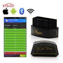 Original vgate icar pro obd2 scanner bluetooth 4.0/wifi ferramenta de diagnóstico do carro elm327 v2.1 icar pro scanner para android/ios