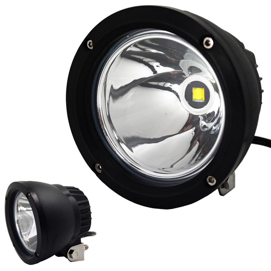 1pcs 4.3'' Round 25W LED Car Work Light Spotlight Working ...